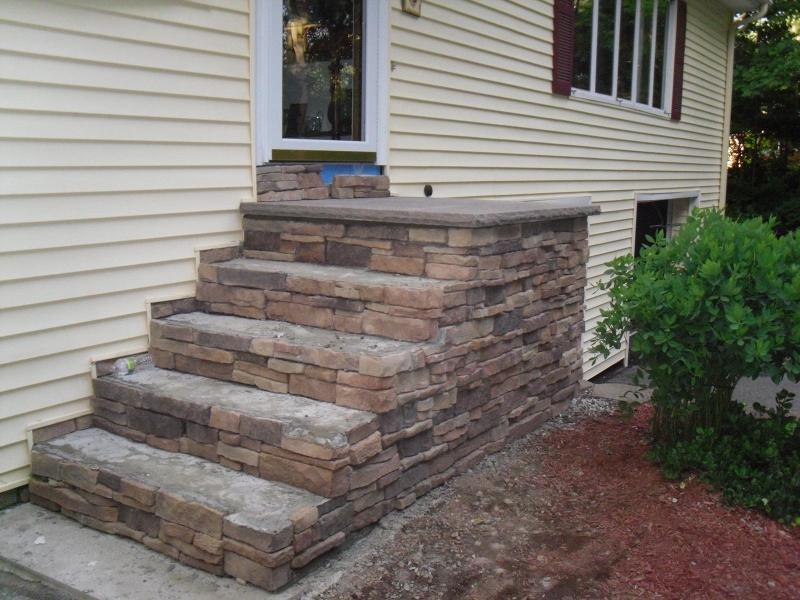 Stone Veneer Stairs Dracut Ma Colonial Craftsmen